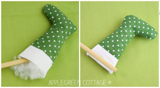 how to make mini Christmas stocking