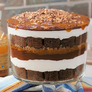 caramel chocolate trifle