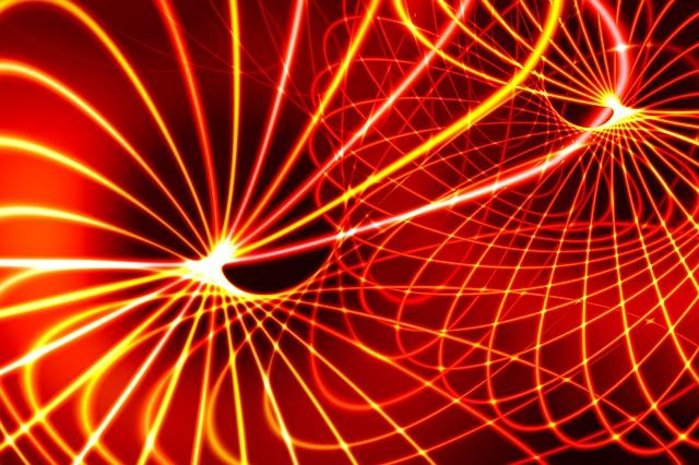 複雑な光のパターン