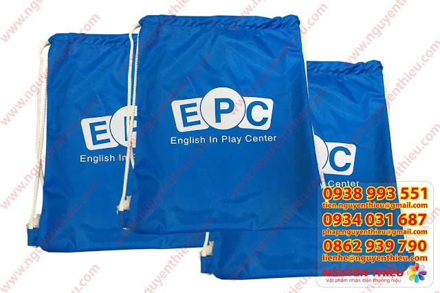 May túi vải in logo theo yêu cầu, túi vải in logo quảng cáo giá rẻ