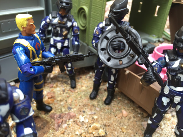 1997 Alley Viper, Toys R Us Exclusive, Rage, 1985 Flint, Bazooka, Skeres, Midnight Chinese, Cobra Officer