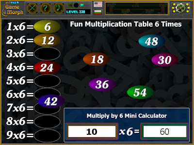 Multiplication Table 6 Times