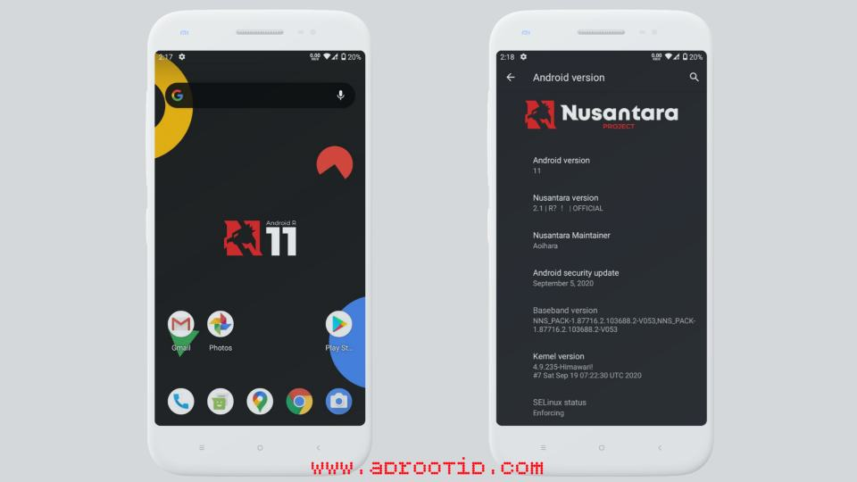 Nusantara Project v2.1 Android R Redmi 3S/X | Land