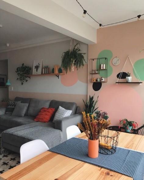 pintura orgânica sala de estar