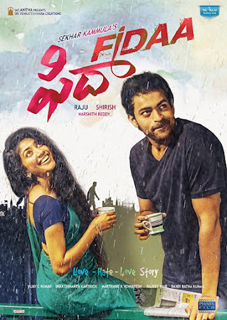 Poster Of Fidaa In Dual Audio Hindi Telugu 300MB Compressed Small Size Pc Movie Free Download Only At worldfree4u.com