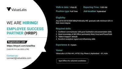 Freshers Jobs 29th Jan 2020