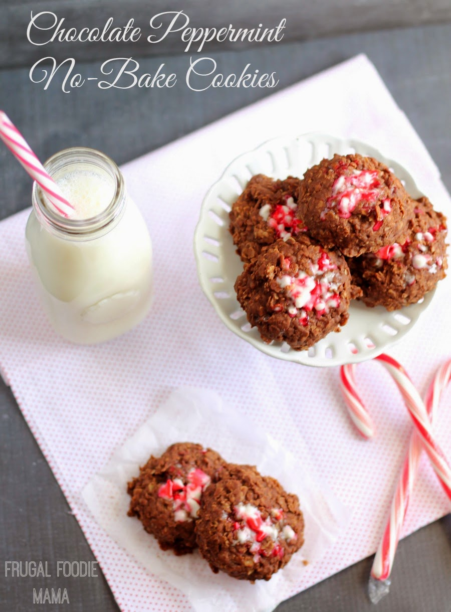 Chocolate Peppermint No-Bake Cookies- a classic cookie gets a minty makeover perfect for the holidays! @Target #QuakerUp #MyOatsCreation #spon