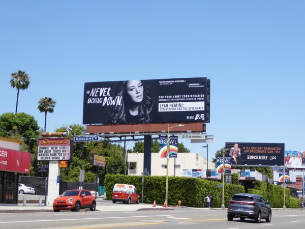 Leah Remini Scientology Emmy FYC billboard