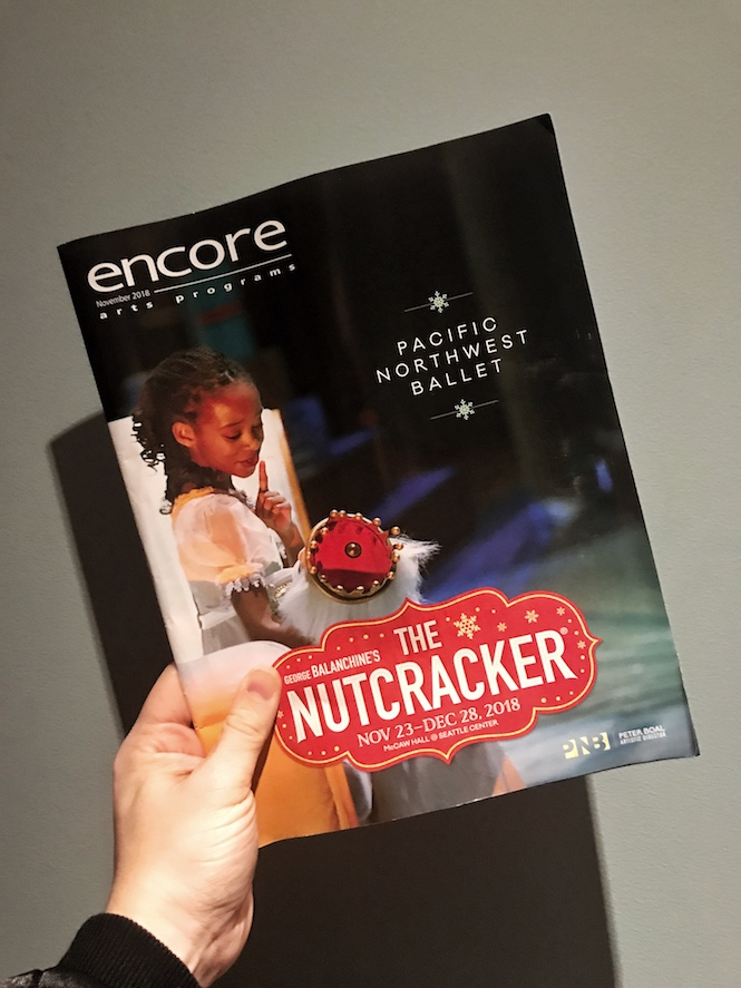 Playbill for The Nutcracker PNB