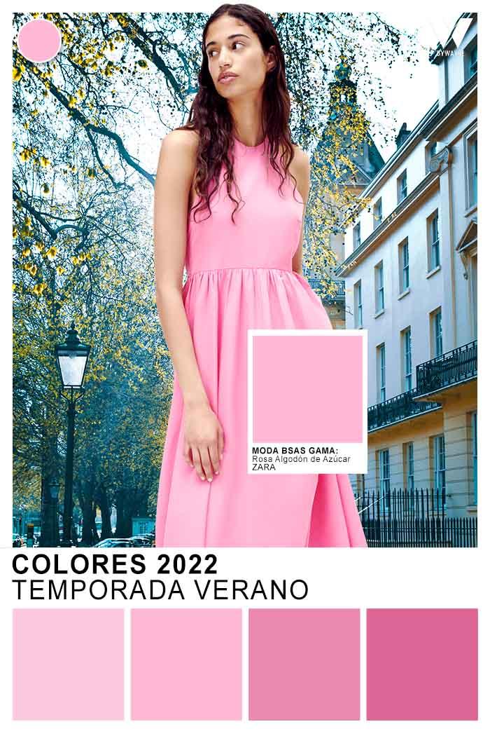 rosas de moda primavera verano 2022 colores de moda 2022