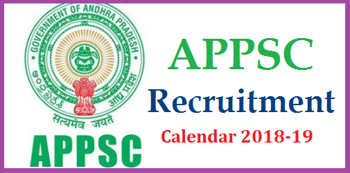 APPSC Recruitment Calendar/Dates for Notification, Examination for Screening Test and Main Exam //2018-19 in Andhra Pradesh @psc.ap.gov.in | Andhra Pradesh Public Service Commission Recruitment Schedule for the 2018-19 Released by Officials Download Here | Detailed information regarding APPSC Upcomming Recruitment Notifications in AP like Notification Dates Examination Dates Screening Test Dates Main exam Dates | Department wise Recruitment details | APPSC Group I Group II Group IV Posts Recruitment Schedule by Govt of AP | Govt Jobs Recruitment Schedule for Andhra Pradesh Govt various Departments appsc-recruitment-calendar-for-notifications-screening-test-exam-dates-schedule-download-psc.ap.gov.in
