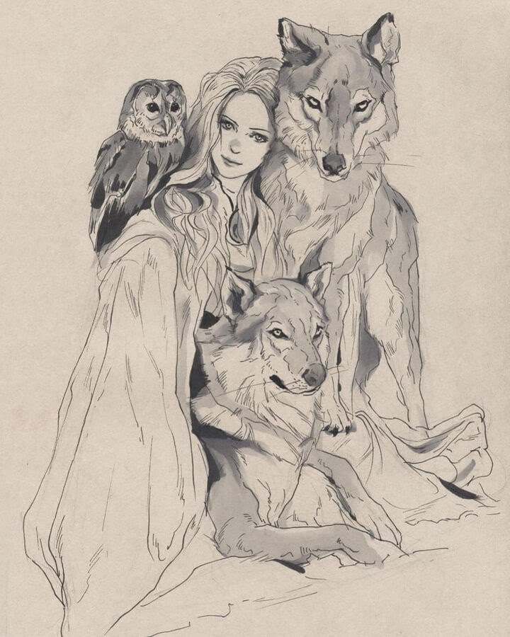 06-The-wolf-lady-and-the-owl-Llin-www-designstack-co