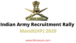 Indian Army Recruitment Rally  Mandi(HP) 2020