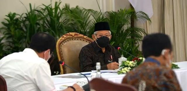 K H Ma'ruf Amin Pimpin Rapat Bahas RUU Tentang ASN di Istana Wapres