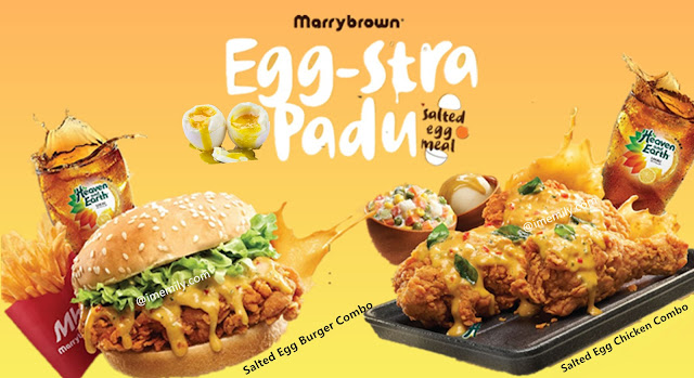 Marrybrown Salted Egg Burger and Chicken Combo Set