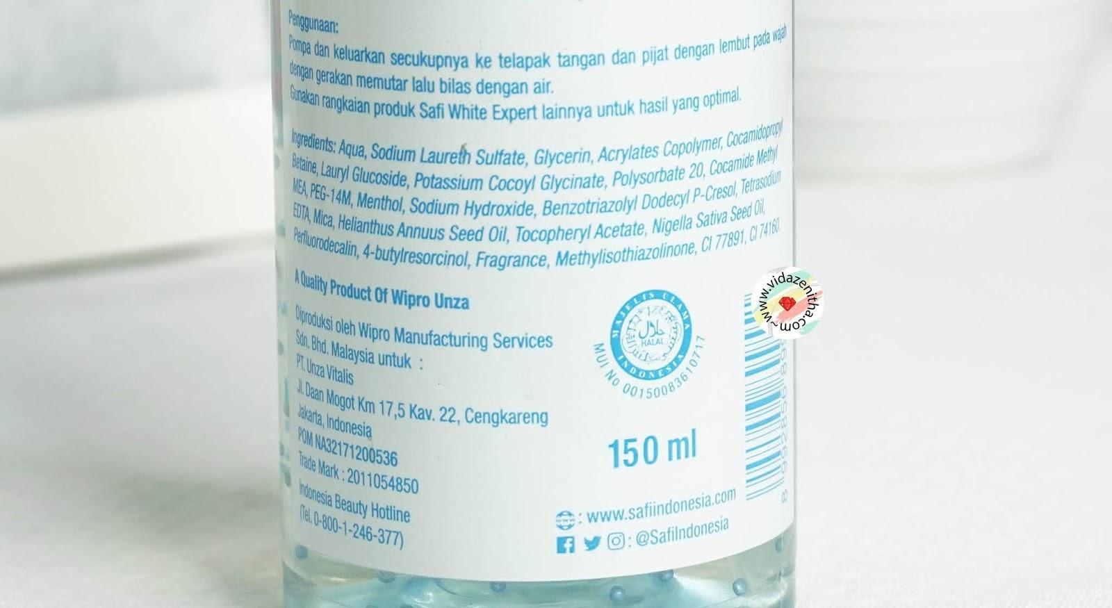 cara pakai safi white expert purifying cleanser