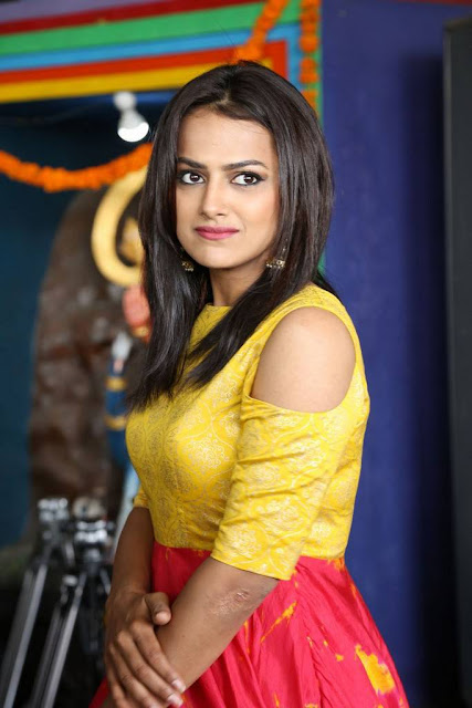 Shraddha Srinath Stills At US Productions New Movie Launch
