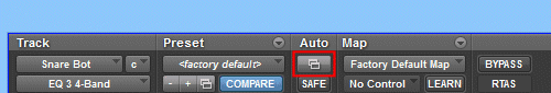 Automation Enable button Pro Tools Plug-in