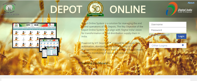 fci depot online.gov.in/farmers/login Farmer New Registration Food Corporation of India