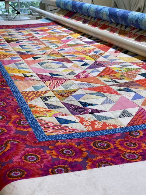 Nearing the End of the Peach Quilting