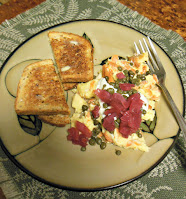 Scrambled eggs worthy of dinner or a special breakfast or brunch with friends!