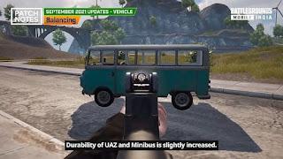 Bgmi vehicle