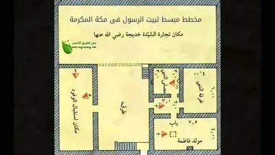 مخطط لبيت الرسول و السيدة خديجة فى مكة