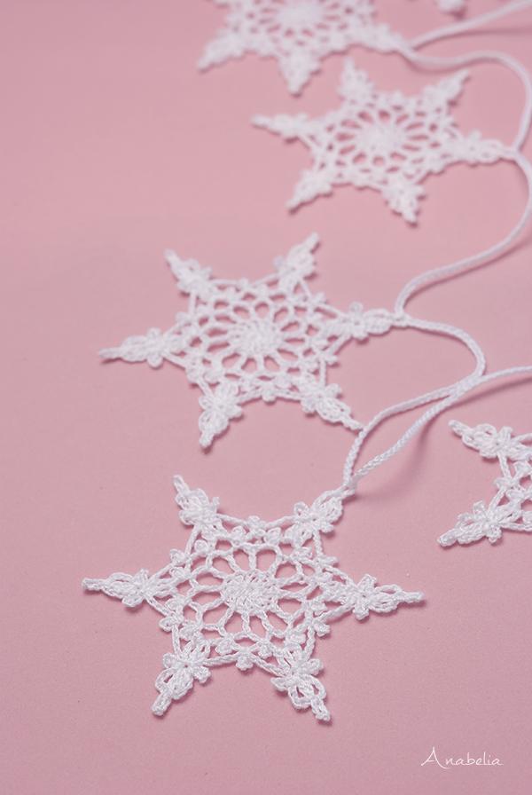 Snowflake crochet motif nr 4 pattern by Anabelia Craft Design