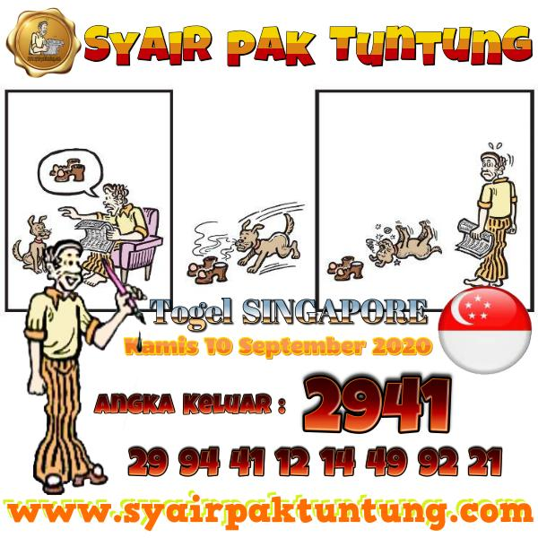 Syair SGP Kamis 10 September 2020 -