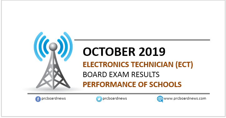 October 2019 Electronics Technician ECT board exam result: performance of schools