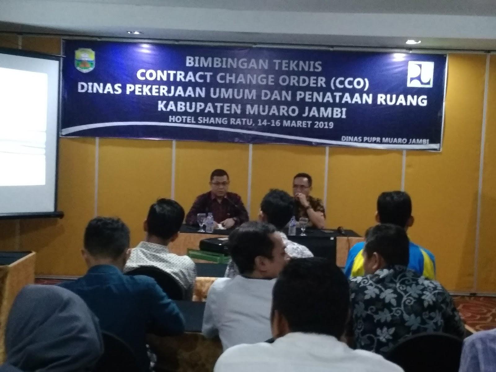 Kadis PUPR Muaro Jambi Buka Bintek CCO Bagi Dinas PU Dan Penataan Ruang.