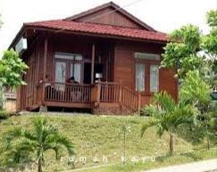 desain rumah bambu dan kayu