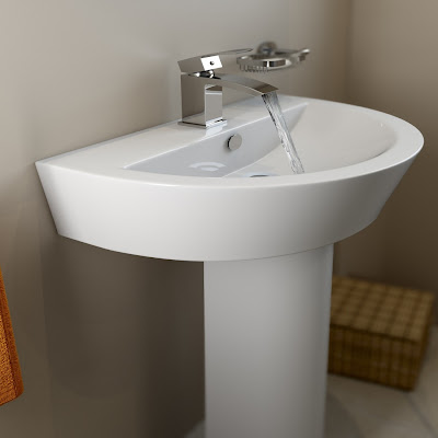 Perfect Corner Pedestal Sink