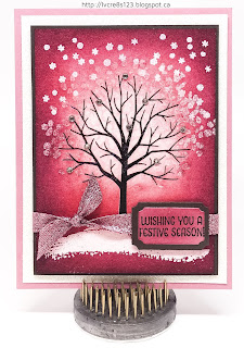 Linda Vich Creates: Sheltering Tree and a Joyful Wreath. An emboss resist technique that results in a pretty winter scene glowing with color!