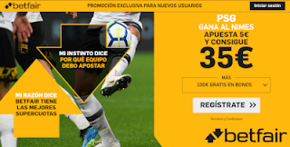 betfair supercuota PSG gana a Nimes 11 agosto 2019