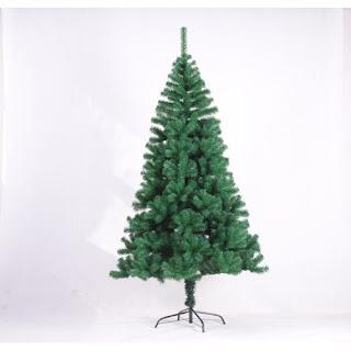 Green Christmas tree with metal feet
