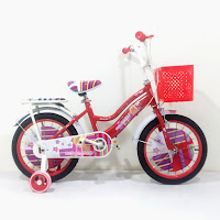 Sepeda Mini Anak KidGolden Berbi 16 Inci x 1.75 Inci CTB Steel 4-7 Tahun Kids City Bike