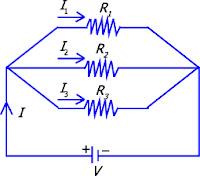 Gambar Rangkaian hambatan paralel resistor