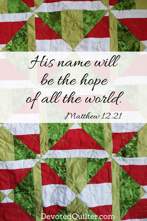 Advent - Hope | DevotedQuilter.com
