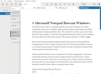 Alternatif dari Notepad Bawaan Windows