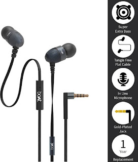 boAt BassHeads 220 Headset with Mic