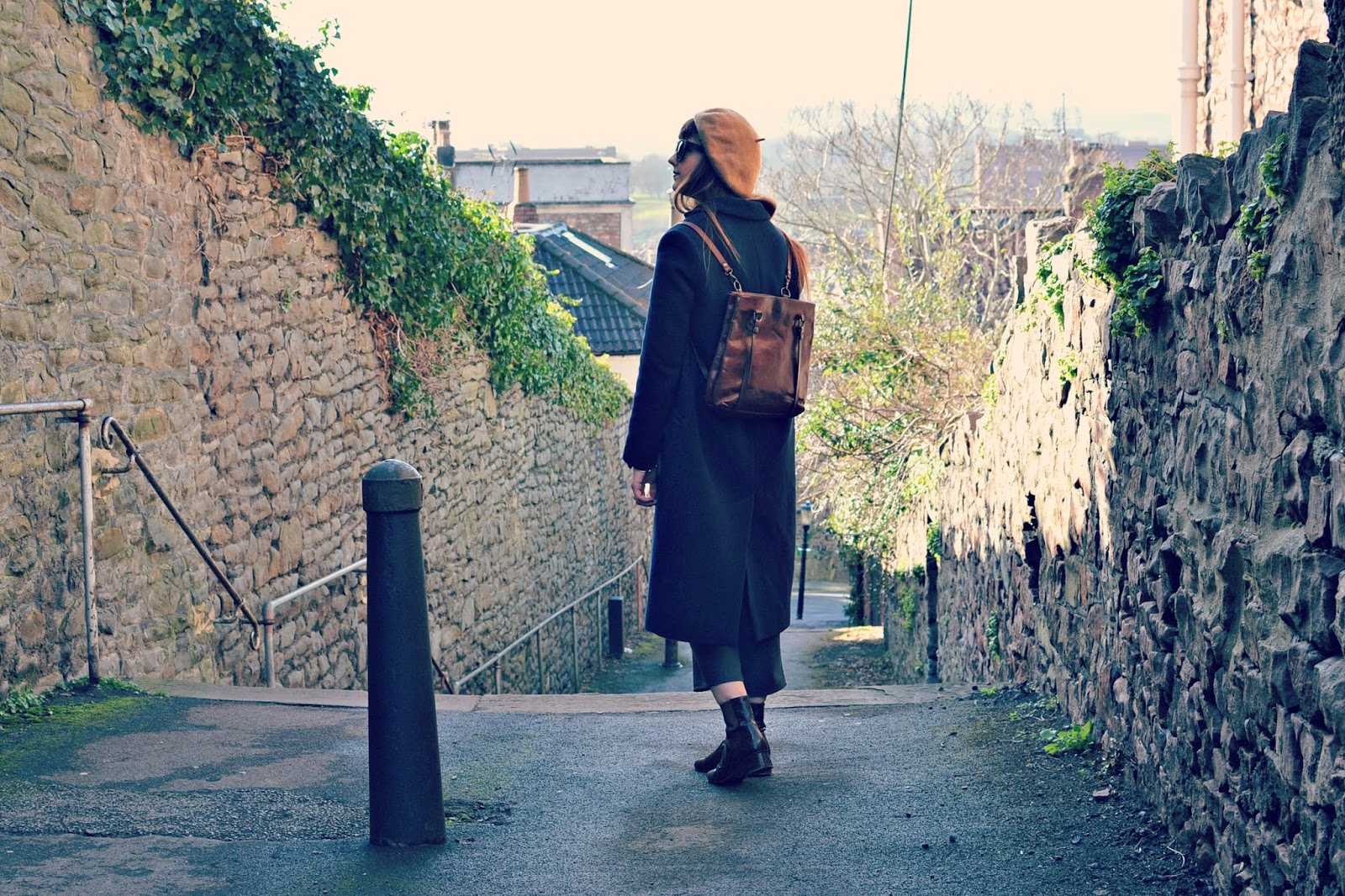 fashion blogger, finery boots, whistles coat, topshop boutique jumpsuit