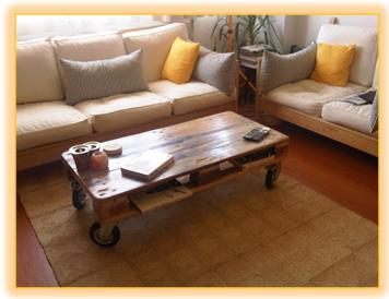 Sala reciclaje latest silln con pallets with sala for Muebles de sala economicos