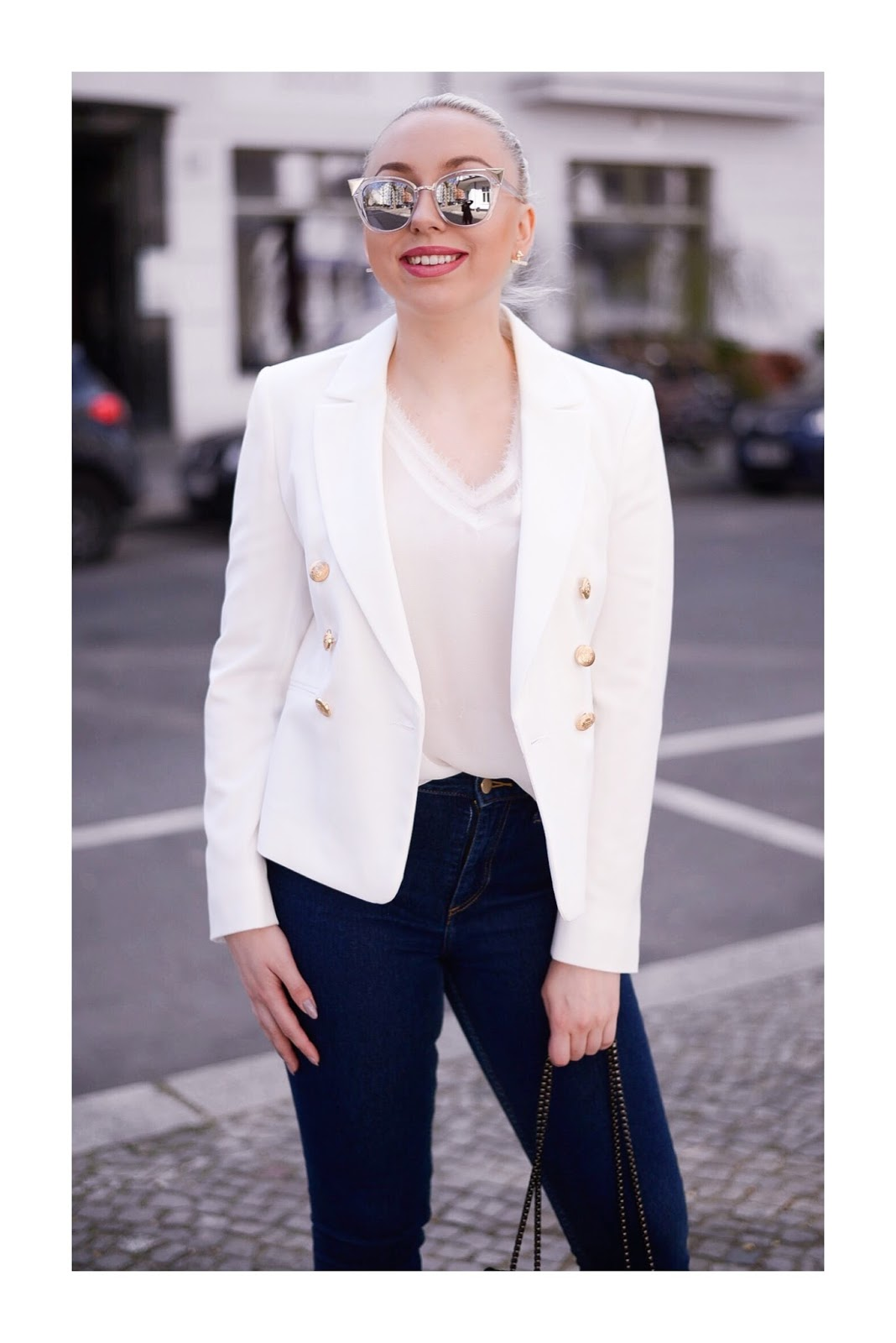 white miss selfridge blazer