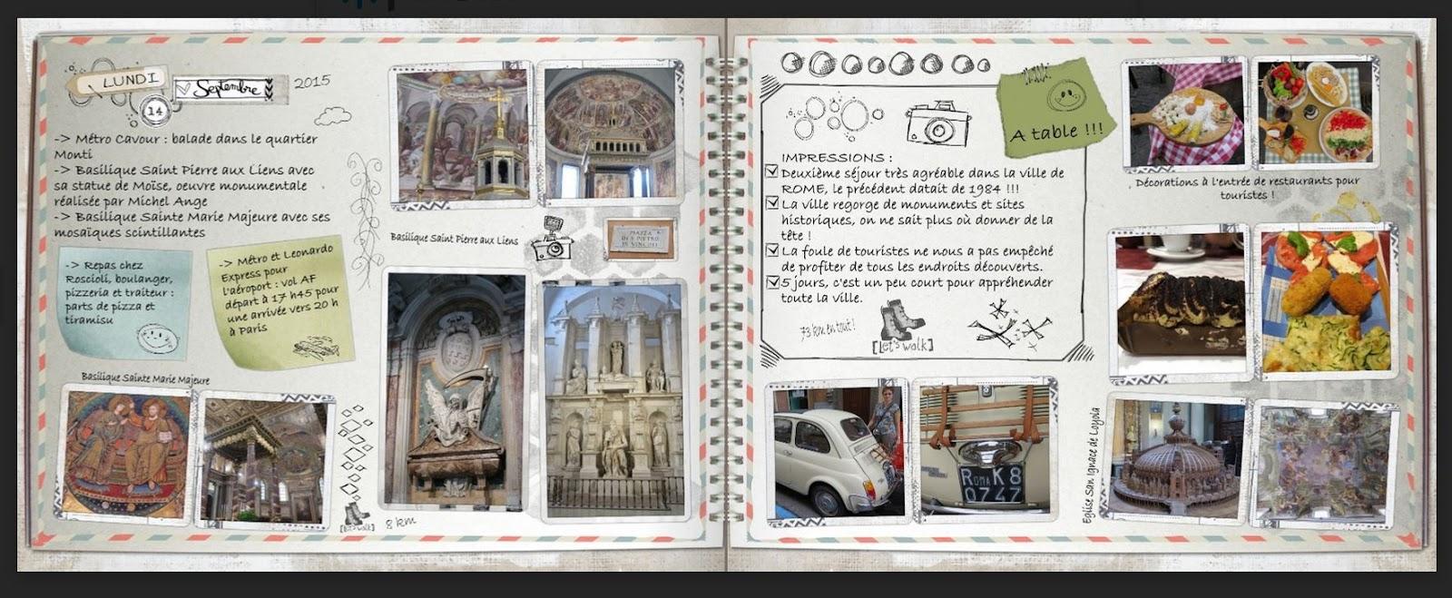 """Top SNOOPYSCRAP 22: Impression de mon """"carnet de voyage"""" RK45"""