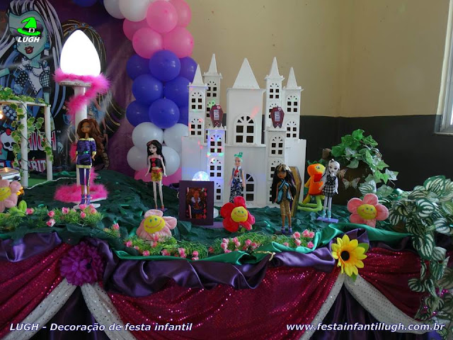 Festa infantil tema Monster High