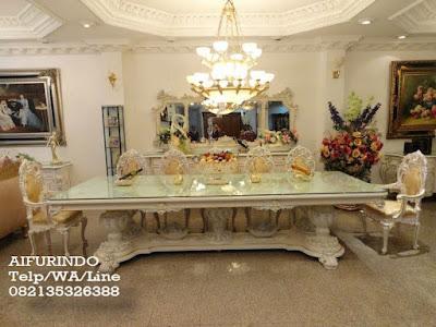 Jual Meja makan duco putih,meja makan duco klasik mewah,Furniture duco,Furniture klasik mewah
