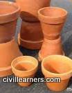 terra-cotta clay pots