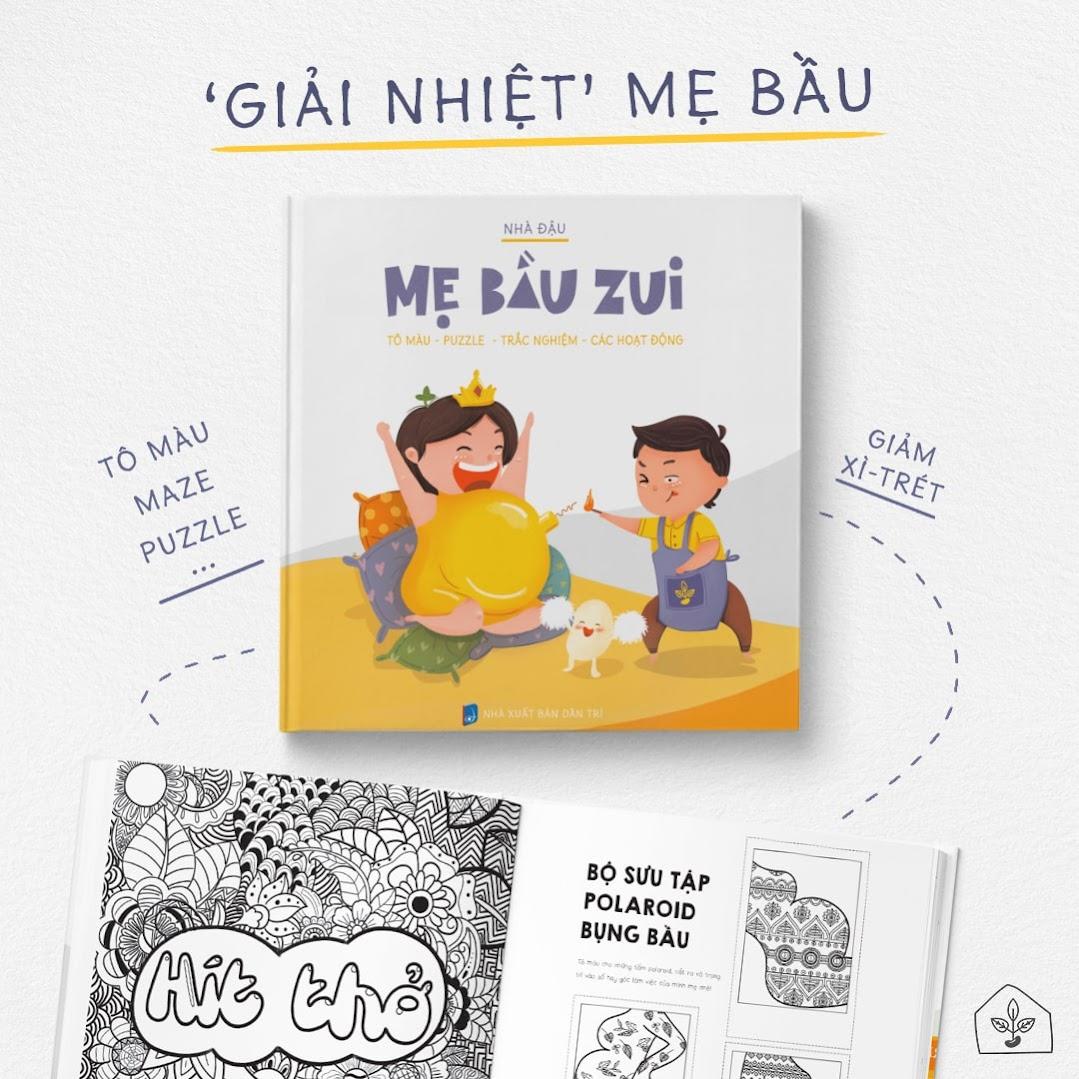 [A116] Sách tô màu cho Bà Bầu 154 trang - Mẹ Bầu Zui