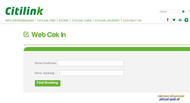Pesan Tiket Pesawat Citilink Check In Online Lebih Mudah dan Cepat